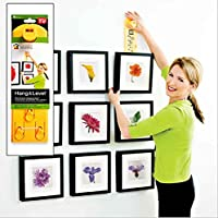 GHKLGY Picture Hanging Tool for Marking Position,Ensuring Picture Straight with Built in Vertical and Horizontal Levels,Simple&Fast for Hanging Groupings and Galleries