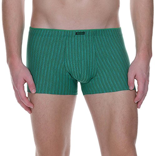 bruno banani Herren Hipshort Smart City Hipster, Grün/Schwarz Stripes 1711, X-Large -