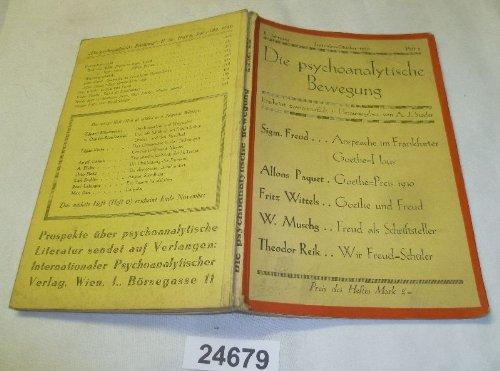 Bestell.Nr. 924679 Die psychoanalytische Bewegung II. Jahrgang Heft 5 September-Oktober 1930