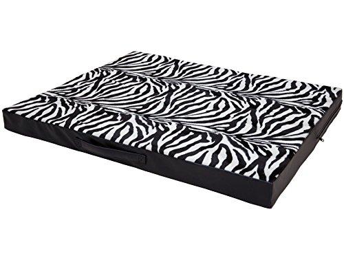 CopcoPet Hundematte Jumbo, 100 x 80 x 8cm, Zebra, abwaschbares Hundebett aus Fellimitat-Stoff, orthopädisches Hundekissen mit Viscoschaumfüllung (5 Zebra X 8)