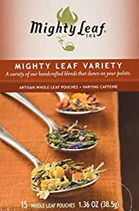 Mighty Leaf Tea Mighty Leaf Variety, Whole Leaf Pouches, 1.36-Ounces, 15-Count (Pack of 3)