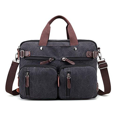 Borsette,borsa di tela,singola spalla /messenger bag-cachi nero