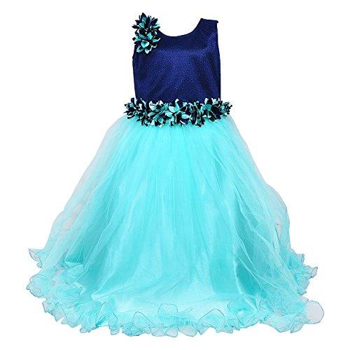 Wish Karo Girls Light Blue Partywear Long Frock Dress DN - (bxa1006sg_4-5...