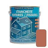 Peinture d'étanchéité pour toiture, réparation tuiles, fissures, anti-fuites, anti-mousse, décore et protège, plusieurs coloris 2.5 litres Terre cuite