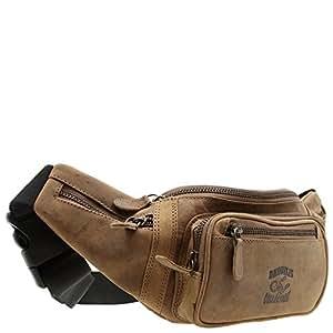 Gürtel-Tasche Echt Leder Hüfttasche Reise-Bauch-Handy