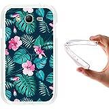 Funda Samsung Galaxy Grand Neo Plus, WoowCase [ Samsung Galaxy Grand Neo Plus ] Funda Silicona Gel Flexible Flores Tropicales 2, Carcasa Case TPU Silicona - Transparente