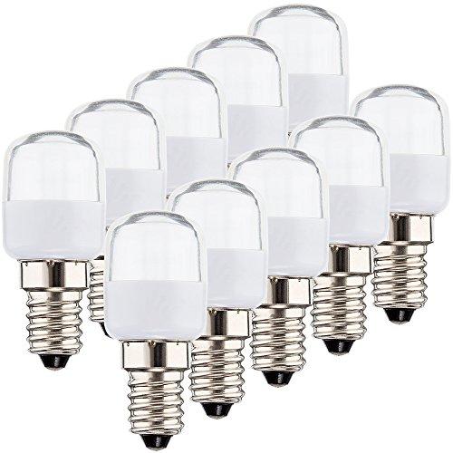 MÜLLER-LICHT LED Kühlschranklampe, Plastik, E14, 2.5 W, Weiß, 2.5 x 2.5 x 6 cm, 10 Einheiten