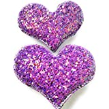 My Party Store DOT COM Cute Stylish Heart Shape Princess Hair Clips For Girls/Kids (Pack Of 2) For Durga Pooja, KANJAK, Navratri, Birthdays And Parties (Purple)