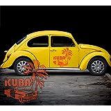 ma108–Adhesivo Cuba palmera Auto Oldtimer, vinilo, verde lima, 90,00 cm x 85,00 cm (MITTEL)