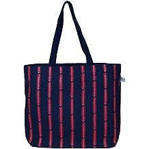 "EcoRight Reusable 100% Jute Cotton EcoFriendly Large Tote Bag Printed""Cotton Pattern"""