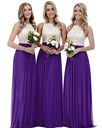 Aurora dresses Damen Abendkleider Elegant für Hochzeit Partykleider Ballkleid Chiffon Brautjungfer...