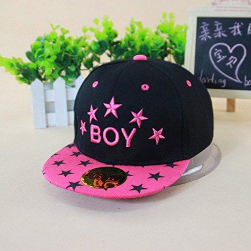 Belsen enfants et garçons Boy étoile chapeau unisexe Baseball Cap Red Rose