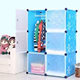 Stylish Portable Clothes Closet Wardrobe Bedroom Armoire Dresser Cube Storage ~ 6 Cube (Multi Color)