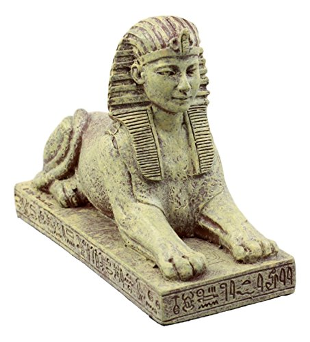 e Ägyptische Guardian Sphinx Figur 10,8 cm L Androsphinx Löwe Dekorativen Sammelfiguren in Sand Ton-Finish ()