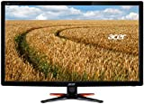 Acer GN246HLBbid 24 inch Wide FHD LED Gaming Monitor with 144 Hz, 1 ms, 350 nits, DVI, HDMI, Acer EcoDisplay - Black