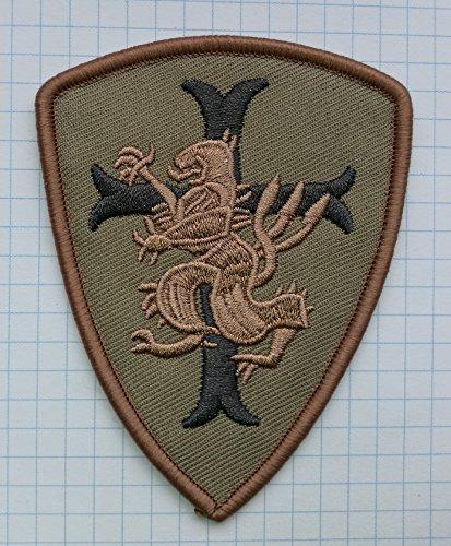 Lion Kreuz Crusader Schild bestickt Tuch Eisen auf Patches