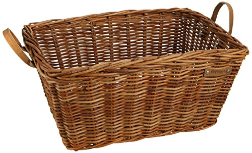 Basil Bicycle Basket Basket Classic, Varnished Natural 40x 32x 28cm-13075 by Basil