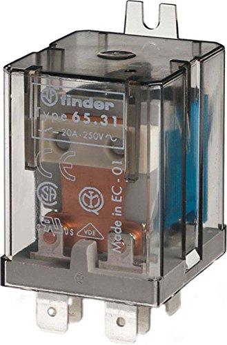 Finder serie 65 - Rele faston contacto abierto con separador +contacto cerrado agsno2 24vdc