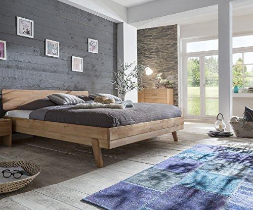 Woodlive Livia Massivholzbett Kernbuche geölt Natur 180×200