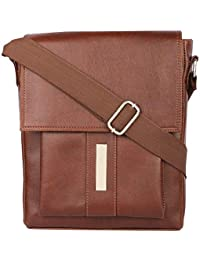 Margaux Natural Tan Pu Leather Sling Bag For Unisex