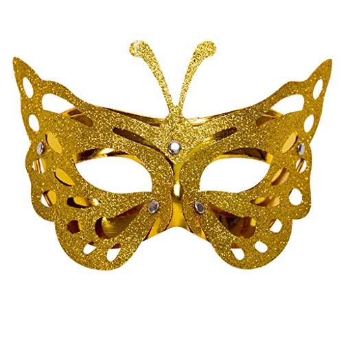 Tinkerbell Freunde Kostüm Und - Lazzboy Karneval Maske venezianische Maskerade Masken Karneval Cosplay(M,Gelb)