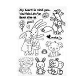 Unterbrechen Cartoon Tier Silikon Transparent Dichtungen DIY Stempel Tabelle Album Foto