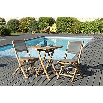 MACABANE 509611 Salon de Jardin Couleur Naturel/Taupe en ...