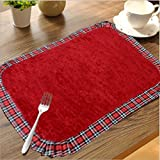 Avioni 100% Cotton Table Mats Reversible Easy To Wash In Gift Packing (Set Of 6)