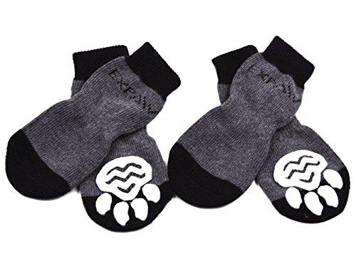 Calcetines antideslizantes para perros, de Expawlorer, para uso interior, protección para las patas