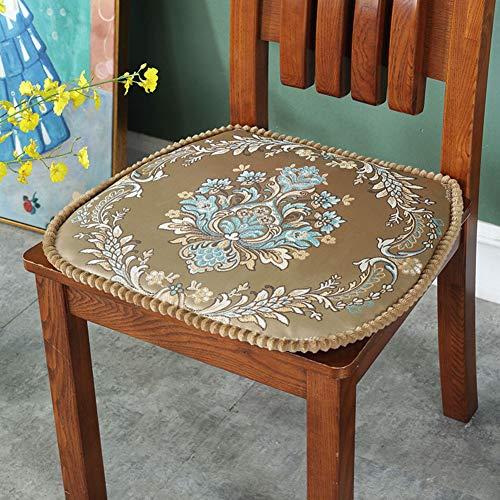F-LFJBK Anti-Slip Sitzkissen,Jacquard Dining Chair Sitz Auflage Mit Krawatten,atmungsaktive Landschaft Patio Hintern Kissen Matte,abnehmbar Und Waschbar-k 42x44cm(17x17inch)
