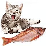 Haustier Spielzeug Katzenminze Kauspielzeug Plüsch Fisch Muster Interaktive Haustiere Kissen für Katzen Kätzchen (11.8