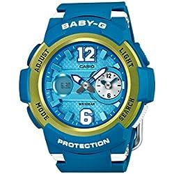 Casio reloj de pulsera de mujer Baby-G analógicoy digital, de cuarzo, correa de Resina BGA-210–2BER