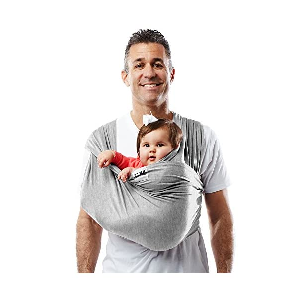 Baby K'tan Baby Carrier Heather, Grey, Medium Baby Ktan Easy to use and put on: no wrapping involved.  5 positions to conveniently carry baby & toddlers from 8 lbs to 35 lbs 100% soft natural cotton with unique one-way stretch Unique hybrid double-loop design holds baby securely and evenly distributes weight across back and both shoulders. washer & dryer safe 14