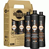 KIT LISSAGE BRESILIEN - BRAZILIAN SECRETS HAIR - 3 X 500 ML - à la keratine made in brazil - environ pour 10 Applications