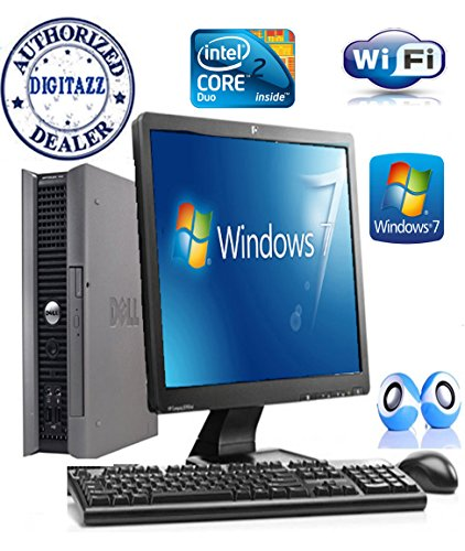 Dell Optiplex 755 Full System - Ultra Small PC Computer and Power Supply   17`` Flat Screen monitor - Intel Dual Core - NEW 160GB Hard Drive - NEW 4GB RAM - FREE OPEN OFFICE - DVD -SUPER FAST DIGITAZZ