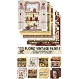"""Paper Pack (24sh 6""""x6"""") Provence Pastoral FLONZ Vintage Paper for Scrapbooking and Craft"""
