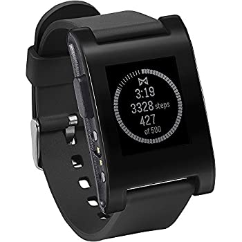 "Pebble Classic - SmartWatch (pantalla 1.26"", Bluetooth, 128 KB, ARM Cortex-M3), color negro"