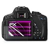 atFoliX Canon EOS 650D/Rebel T4i Glasfolie - FX-Hybrid-Glass Elastische 9H Kunststoff Panzerglasfolie - Besser als Echtglas Panzerfolie