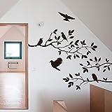 Adesivo da Parete Clode® Albero & Bird Wall Sticker del Vinile Decalcomania di Arte Murale Camera Casa Decorazione di DIY