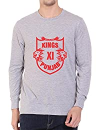 Kings XI Punjab IPL Full Sleeve Round Neck Premium Cotton T-Shirt