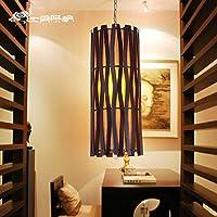 Wandun Lampadari Di Legno Creativo Illuminazione Del Giardino Di Bambù Naturale,Scuro