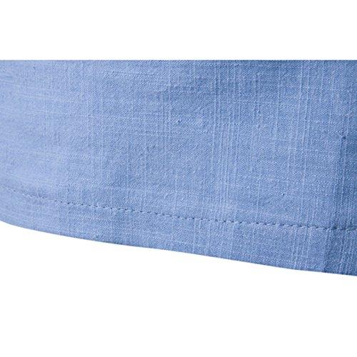 donhobo Herren Langarm Shirt Henley Slim Fit Lässige Long Sleeve T-Shirt 01Schwarz