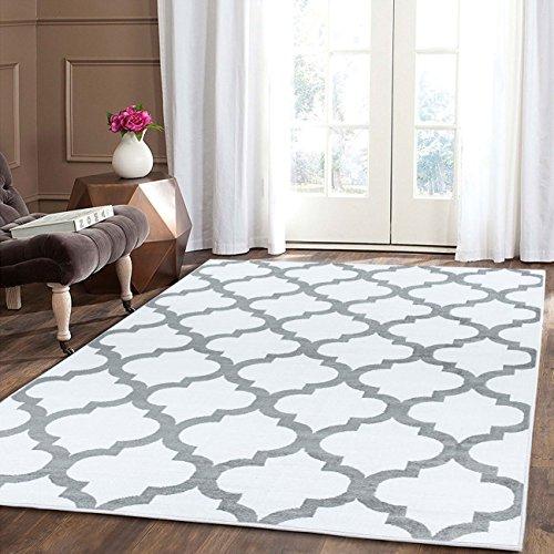 A2z Schnellspanner Teppich, Teppiche weiß 140x 200cm–4'17,8cm X6' 17,8cm FT Modische Kollektion ohne Grenzen Bereich Teppich (Teppiche Aus Der Türkei)