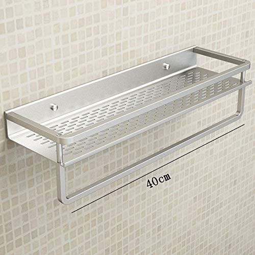 MTX Ltd Regal Aluminium Primärfarbe Wandbehang 40 cm 2 Schicht 3 Schichten Handtuchhalter Schlafzimmer Wohnzimmer Sehr Langlebig, 4 - 3 Regal, Chrom-draht