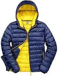 Resultado r194m Urban Snow Bird chaqueta con capucha, Unisex, color Navy/Yellow, tamaño XL
