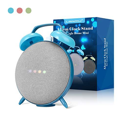 Soporte Holder para Home Mini, LANMU Soporte Holder para Google Home Mini, Retro Clock Case Mount para Google Home Mini Smart Voice Assistants (Azul)