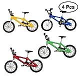 TOYMYTOY 4 Stücke Mini Legierung Fahrrad Spielzeug, 1: 18 Miniatur Finger Mountainbike Modell Ornamente für Kinder Kinder Jungen
