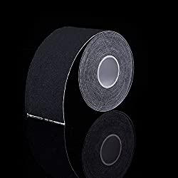 Black : Solid Color Taping Kinesiology Tape Sports Adhesive Elastic Adhesive Muscle Bandage Knee Pad Dance Tactical Physio Strain Injury