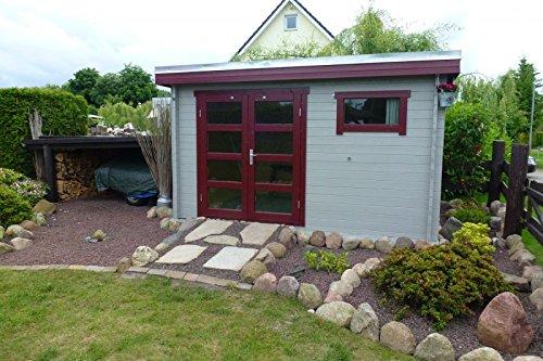 Modernes Gartenhaus EMMA mit Flachdach
