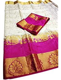 Nirja Creation Multi Color Fancy Party Wear Cotton Silk Saree